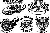 vector of Racing Badge design set