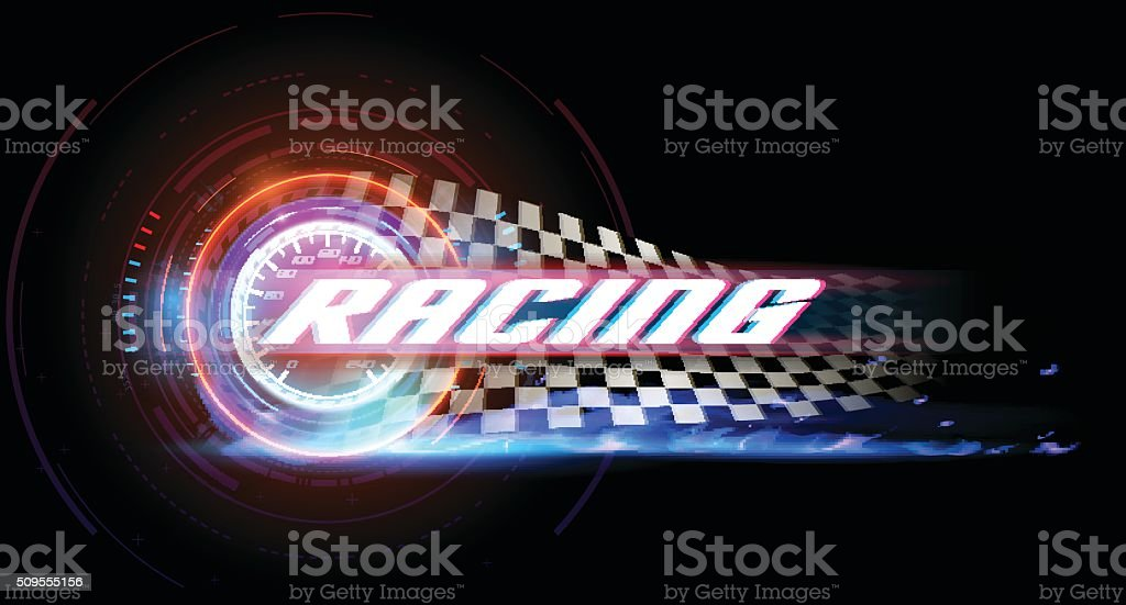 Racing banner vector art illustration