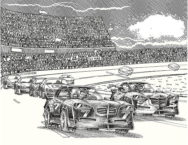 Racing Battle Taught fight to obtain the victory. indy racing league indycar series stock illustrations