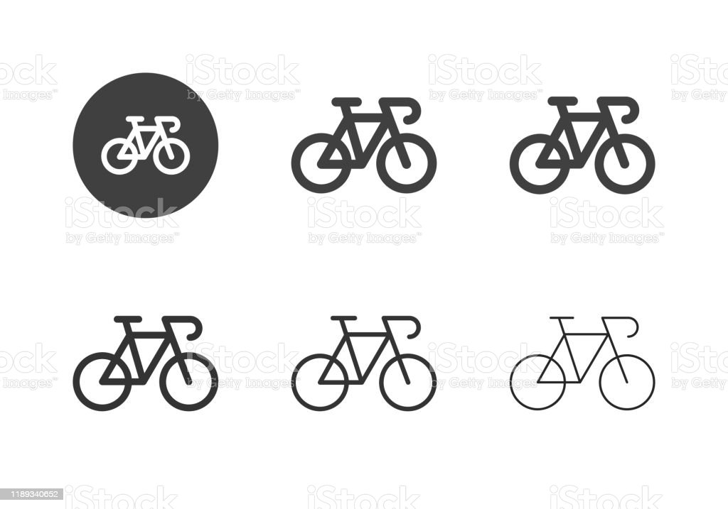 Racing Bicycle Icons - Multi Series - Royalty-free A caminho arte vetorial