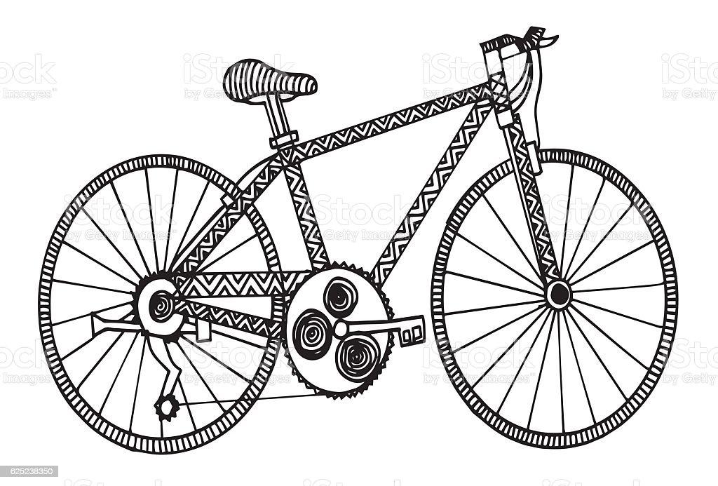 Bicicletta Da Corsa Vista Laterale Di Disegno Immagini Vettoriali