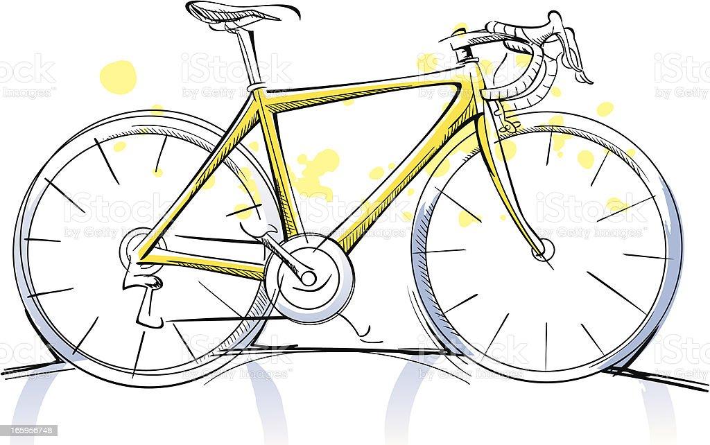 Favorito Bicicletta Da Corsa Schizzo Illustrazione 165956748 | iStock RC74