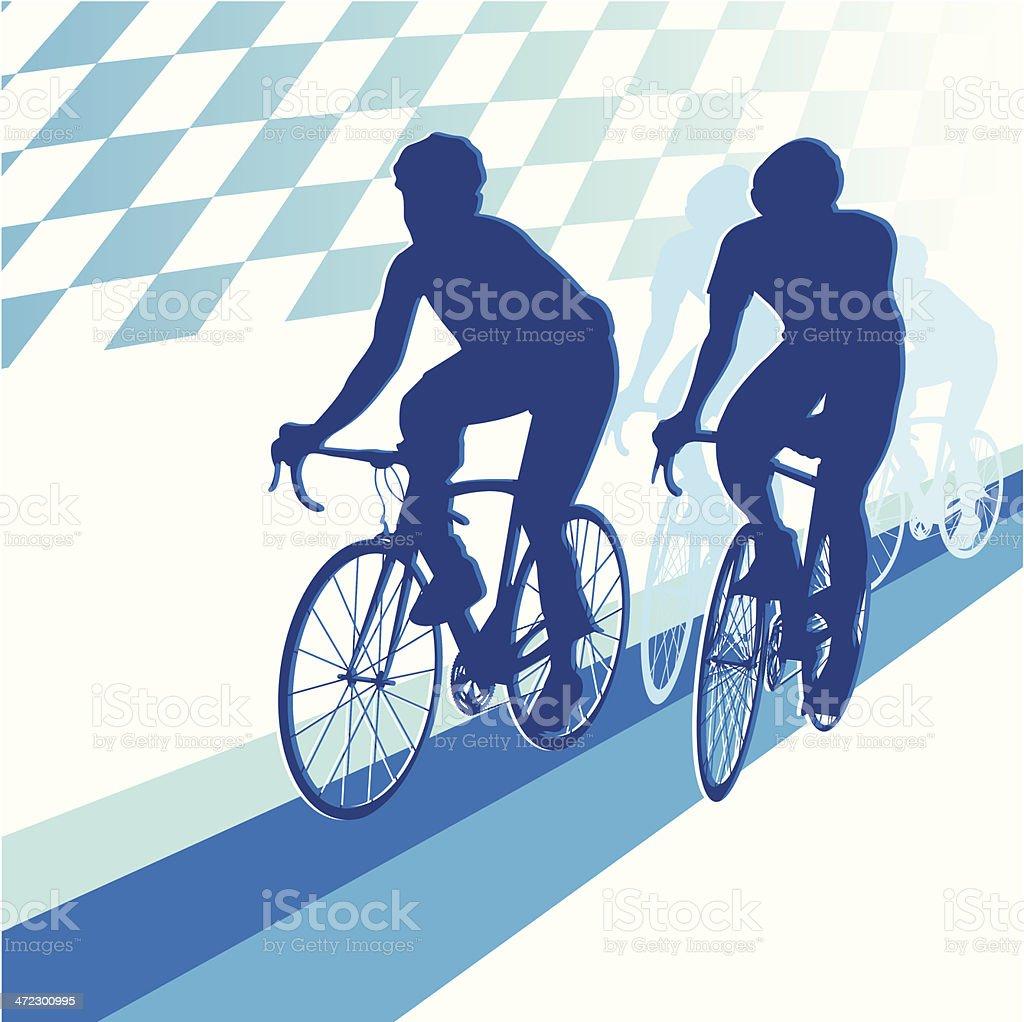 Racing Bicycle royalty-free stock vector art