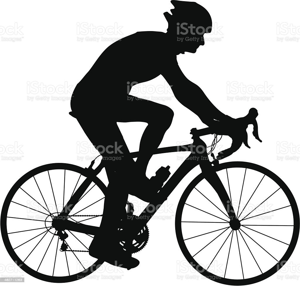 Racing Bicycle royalty-free stock vector art
