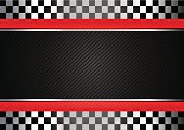 Racing black and white checkered background with red lines