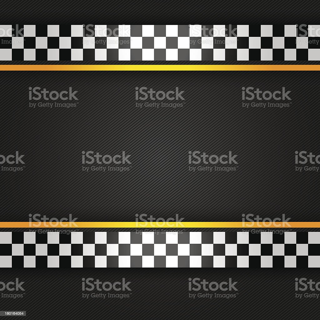 Racing black striped background vector art illustration