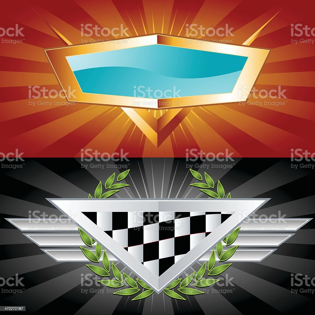 Racing Car Emblems royalty-free stock vector art