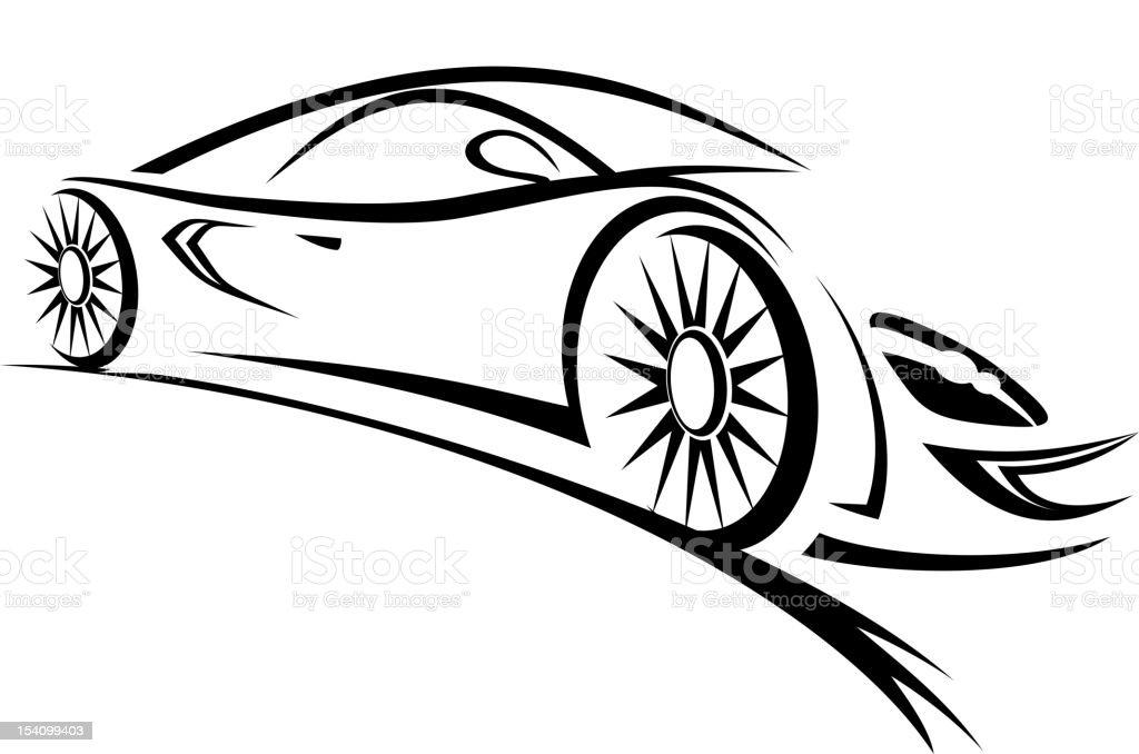 Racing car royalty-free stock vector art