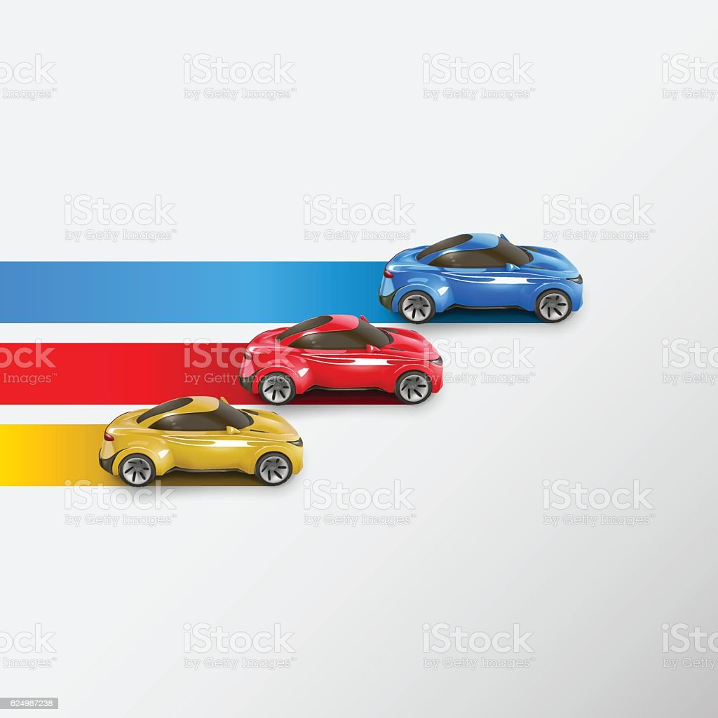 Racing cars. Vector illustration vector art illustration
