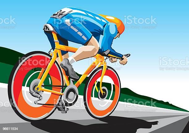 Racing Cyclist Hispeed-vektorgrafik och fler bilder på Aerodynamik