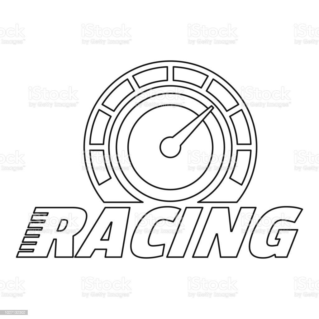 Logo De Tableau De Bord De Course Esquisser Style Vecteurs