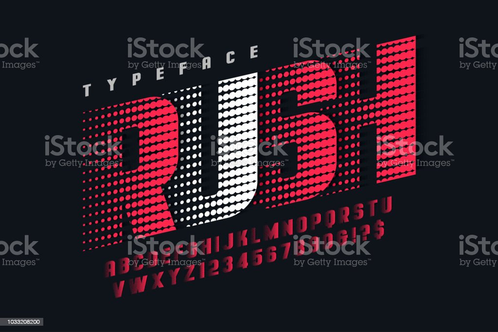 Racing display font design, alphabet, letters and numbers royalty-free racing display font design alphabet letters and numbers stock illustration - download image now