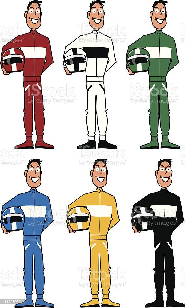 Racing Drivers vector art illustration