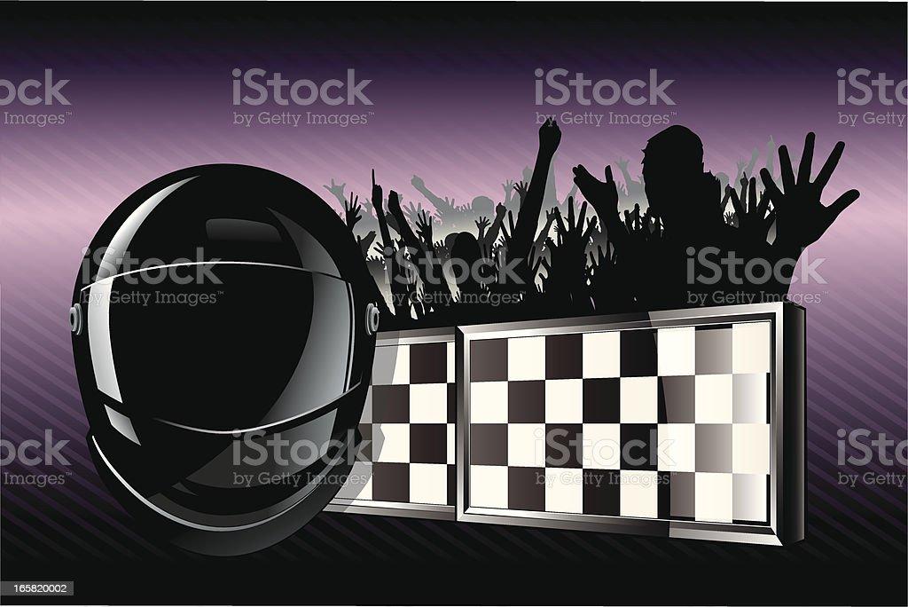 Racing Emblem with helmet royalty-free stock vector art