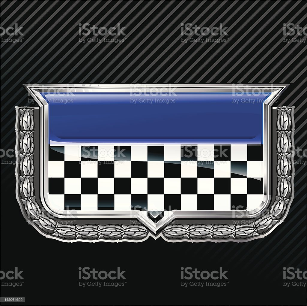 Racing emblem with laurel wreath royalty-free stock vector art