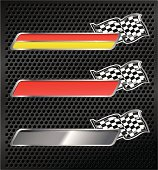 Racing Emblems With Checkered Flags