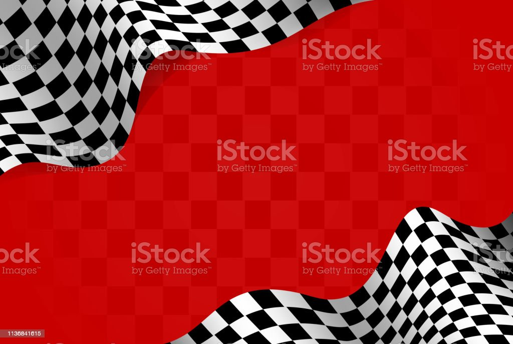 racing flag border design frame