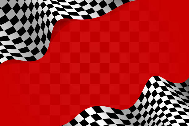 racing flag borders - race stock illustrations
