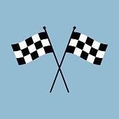 Racing flag flat vector icon. Start flag. Finish flag