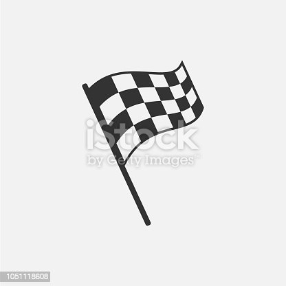 Racing flag isolated on white background. Vector illustration. Eps 10.