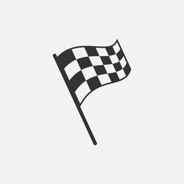 Racing flag isolated on white background. Vector illustration. Racing flag isolated on white background. Vector illustration. Eps 10. finishing stock illustrations