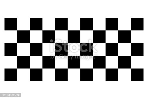 Racing flag. Race flag vector icon. Finishing flag. Vector design illustration