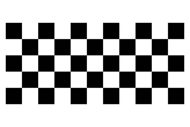 Racing flag. Race flag vector icon. Finishing flag. Vector design illustration Racing flag. Race flag vector icon. Finishing flag. Vector design illustration checked pattern stock illustrations