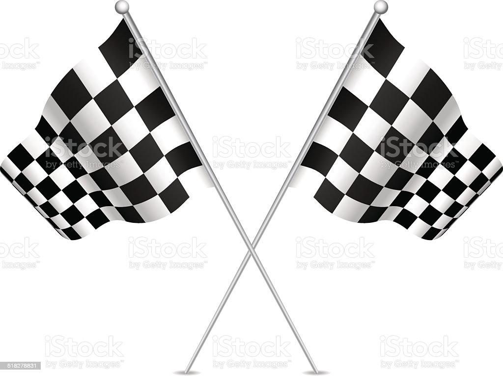 Racing flag (checkered flag). Vector illustration. vector art illustration