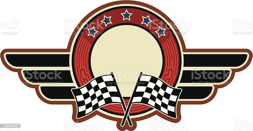 racing flags insignia royalty-free stock vector art