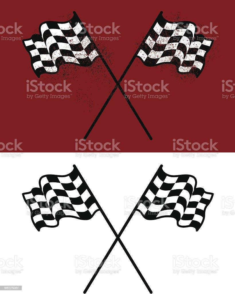 Racing Flags vector art illustration