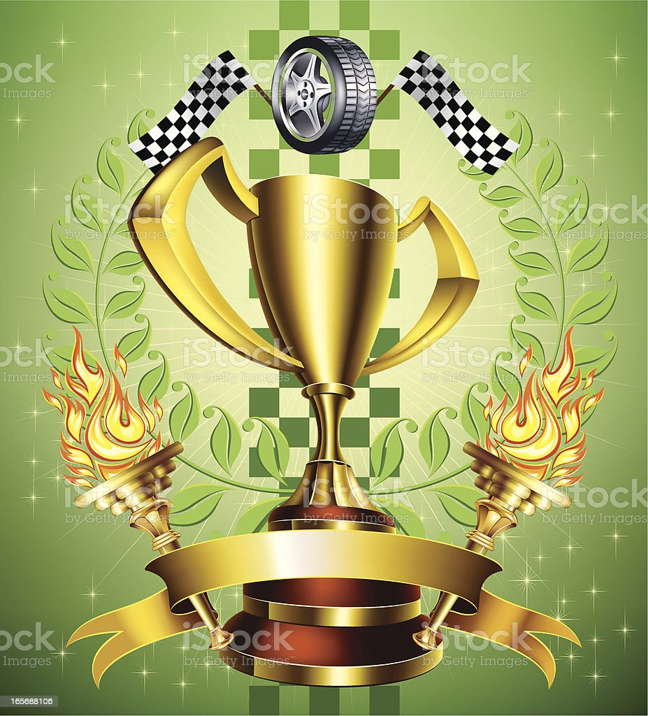 Racing gold trophy royalty-free racing gold trophy stock vector art & more images of achievement