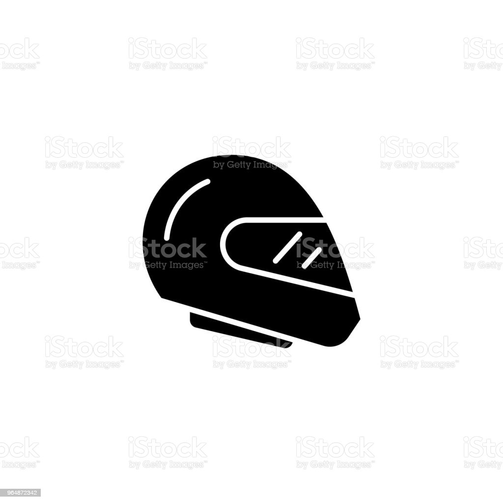 Racing helmet black icon concept. Racing helmet flat  vector symbol, sign, illustration. royalty-free racing helmet black icon concept racing helmet flat vector symbol sign illustration stock vector art & more images of art