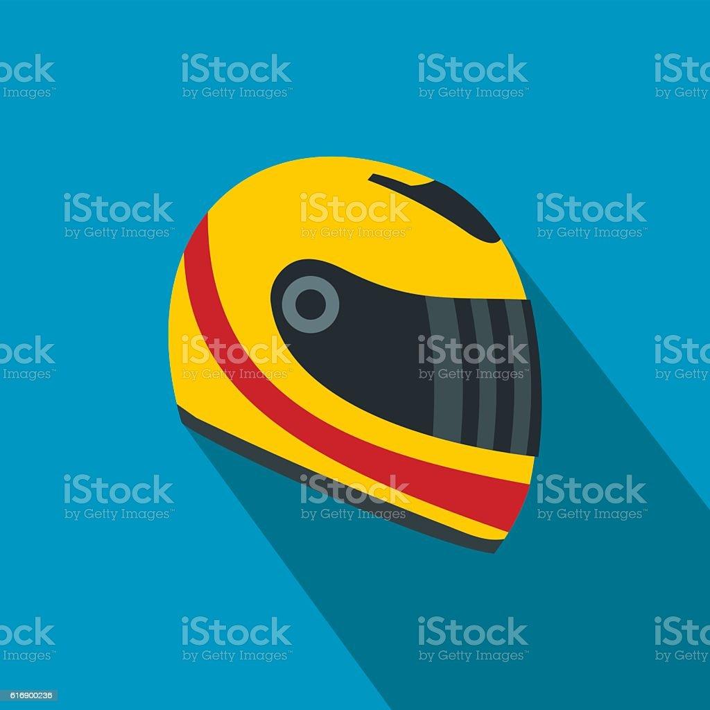 Racing helmet flat icon royalty-free racing helmet flat icon stock illustration - download image now
