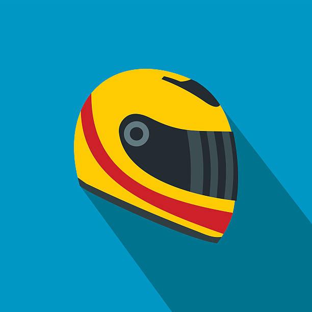 Racing Helm flache Symbol – Vektorgrafik