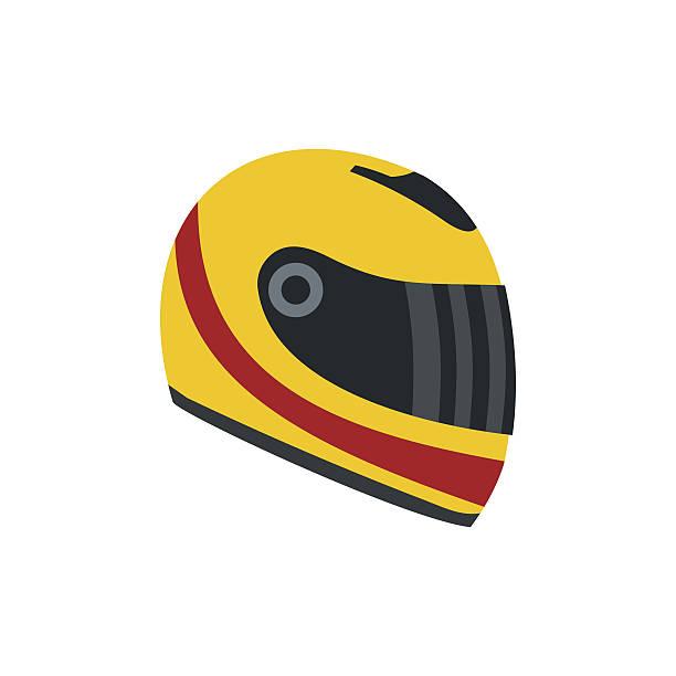 racing helm flache symbol - sportschutzhelm stock-grafiken, -clipart, -cartoons und -symbole