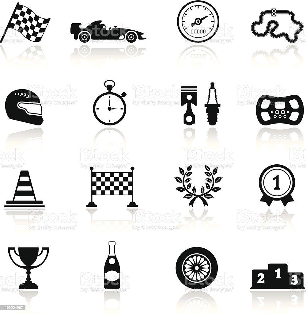 Racing Icon Set royalty-free stock vector art