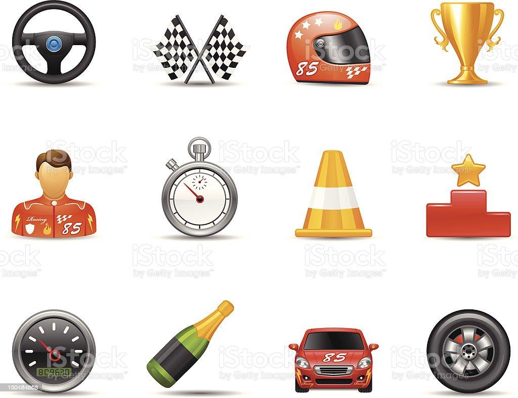 Racing Icon vector art illustration