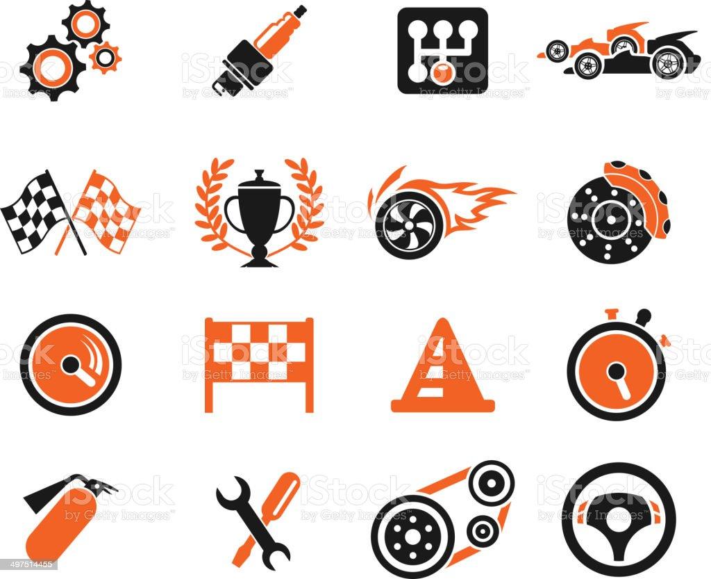 Racing icons vector art illustration