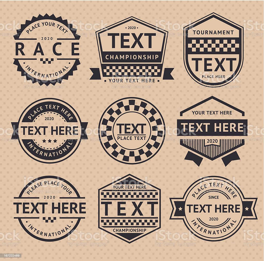Racing insignia, vintage style royalty-free racing insignia vintage style stock vector art & more images of auto racing