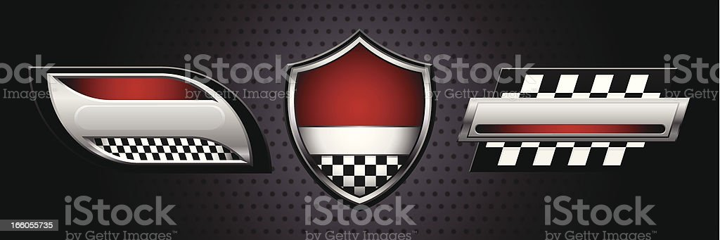 Racing Logos vector art illustration