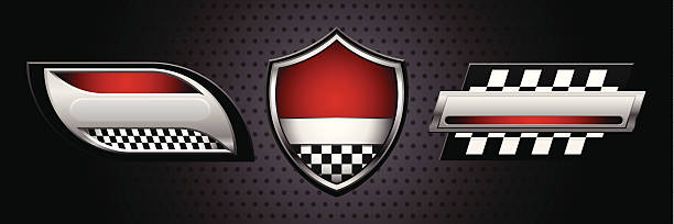Racing Logos vector art illustration
