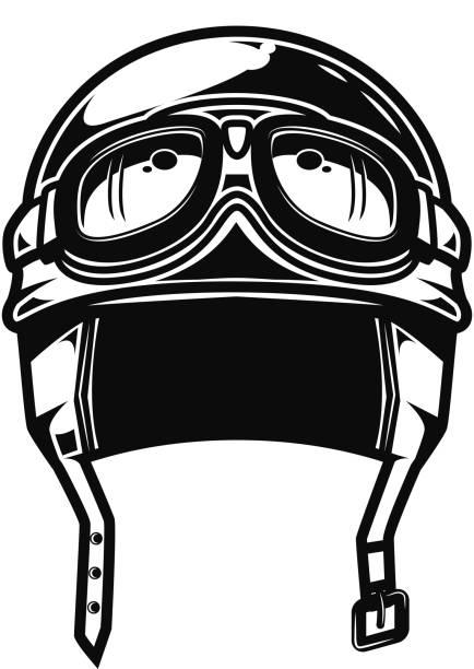 ilustrações de stock, clip art, desenhos animados e ícones de racing motorcycle helmet isolated on white background. design element for poster, emblem, sign, label. vector illustration - helmet motorbike