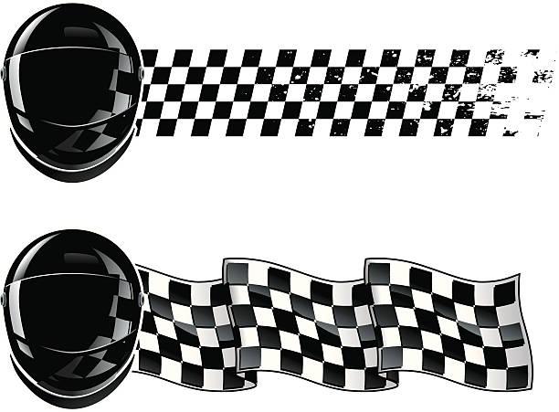 racing Shield vector art illustration