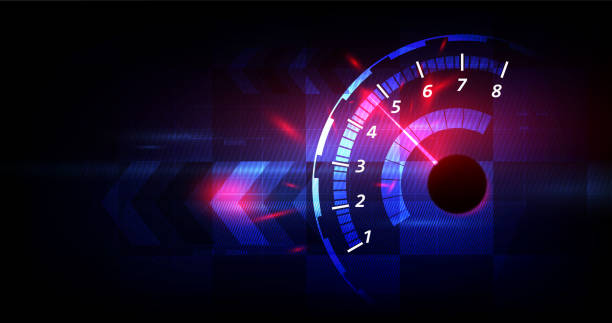 Racing Speed Hintergrund, Vektor-Illustration Abstraktion im Auto track – Vektorgrafik