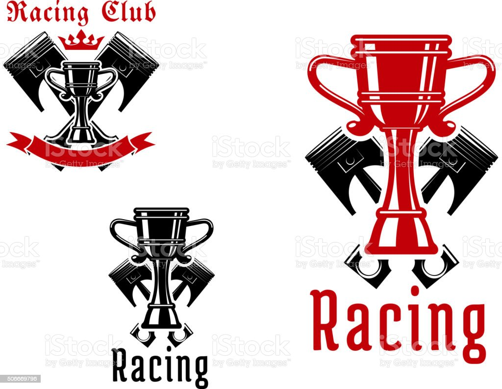 Racing sport club or competition icon design vector art illustration