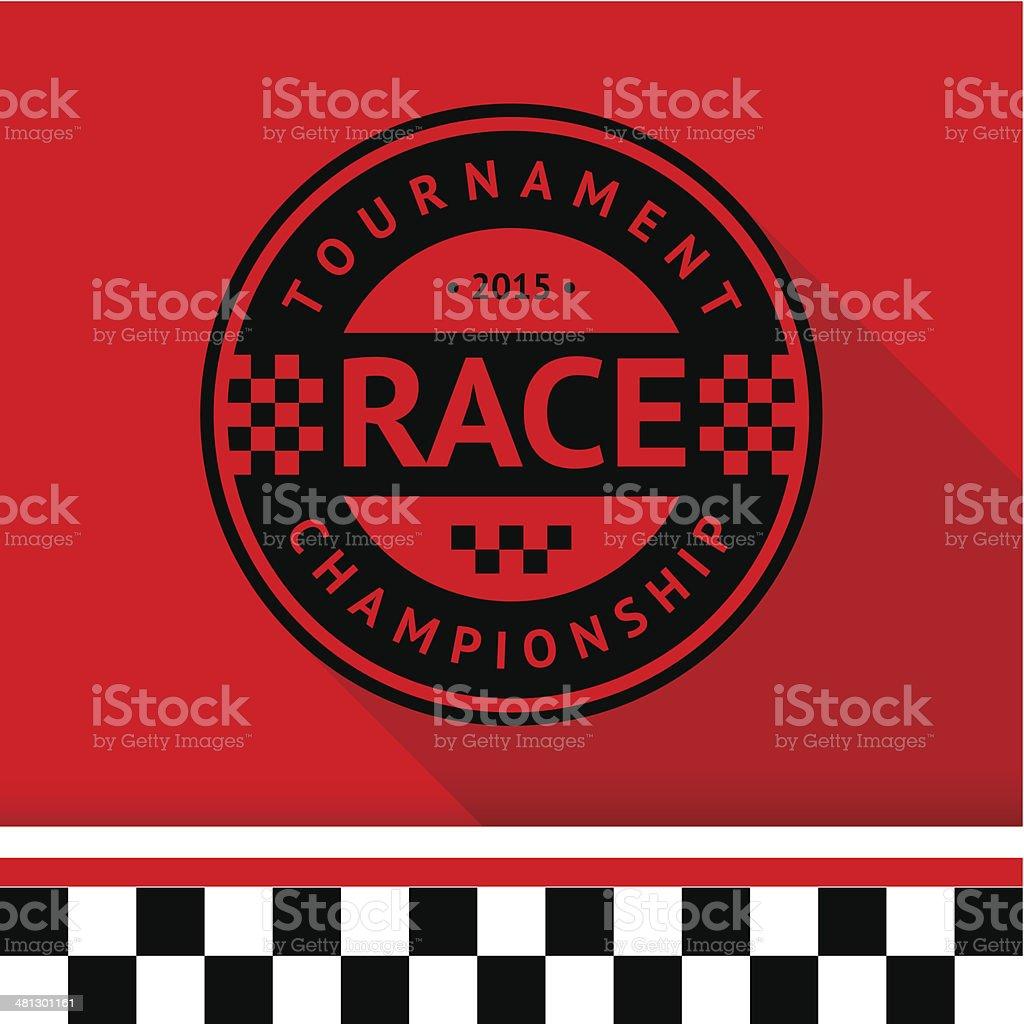 Racing stamp-07 vector art illustration