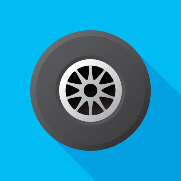 ilustraciones, imágenes clip art, dibujos animados e iconos de stock de carreras del neumático plano - tires