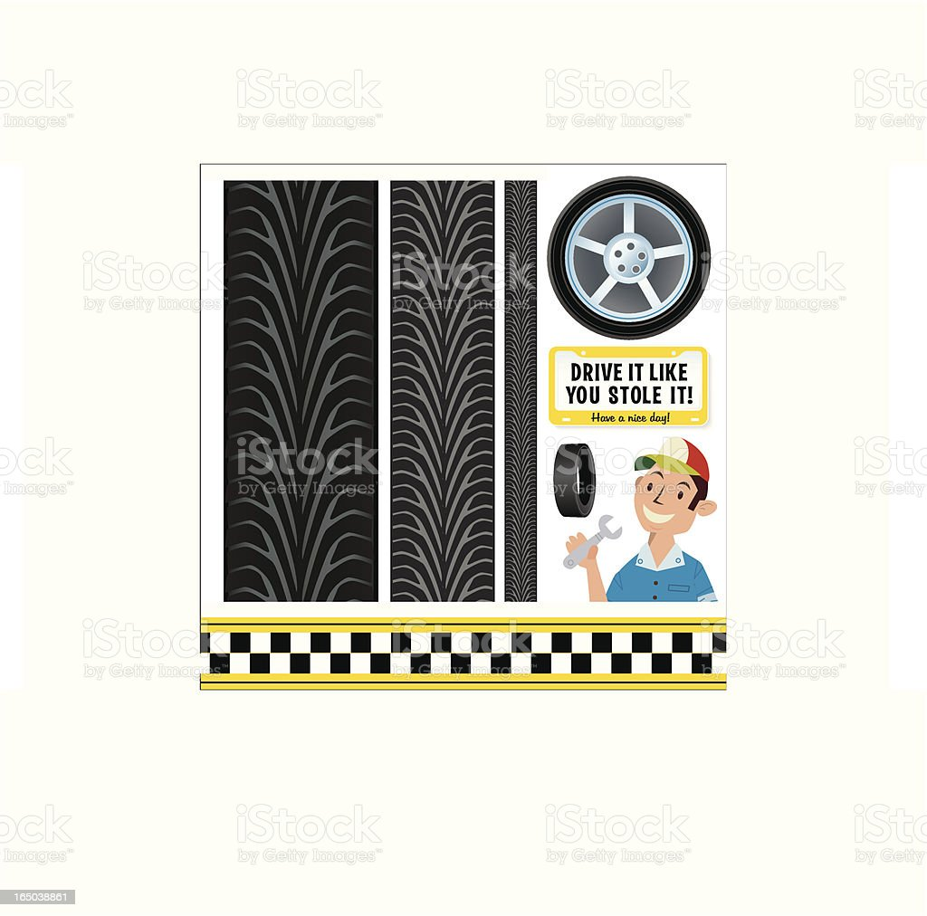 Racing Tire Tread royalty-free racing tire tread stock vector art & more images of alloy