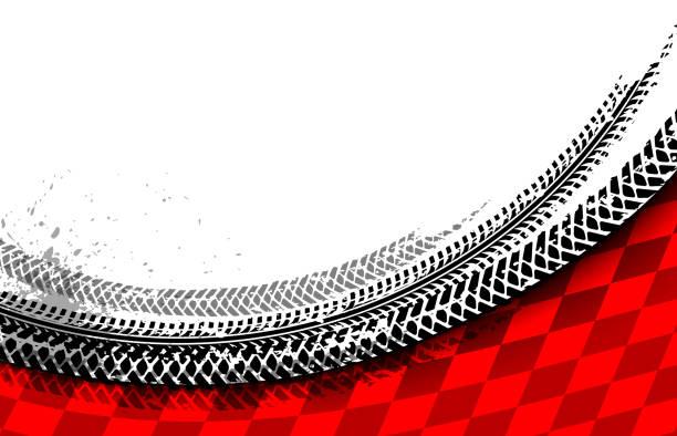 racing treads - race stock illustrations