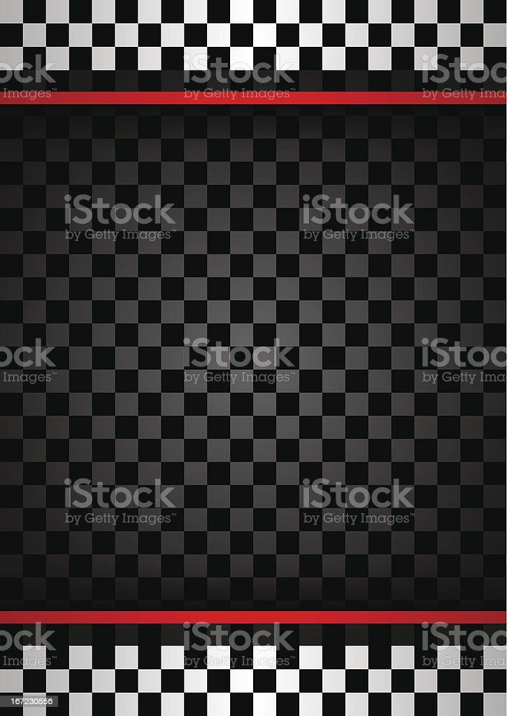 Racing vertical backdrop vector art illustration